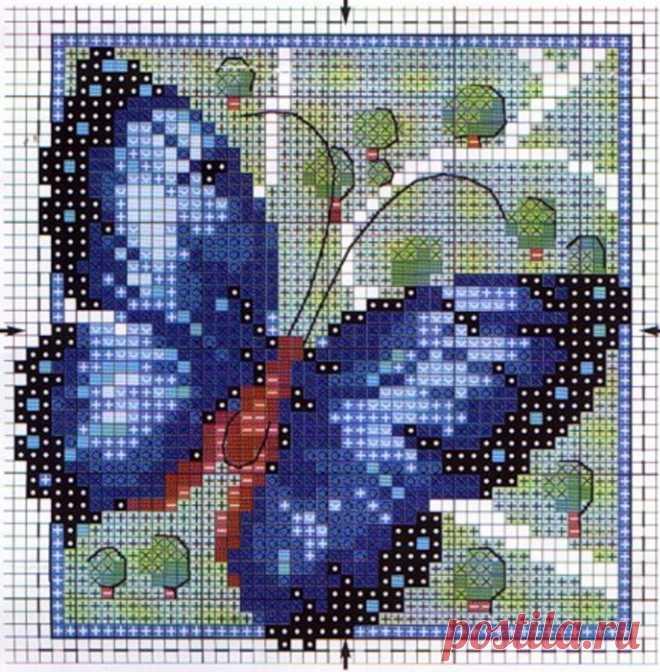 Вышивка. Бабочки