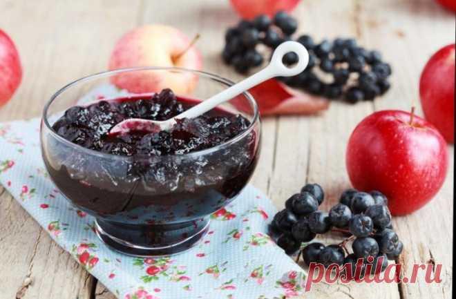 рецепт варенье из черноплодной рябины с яблоками