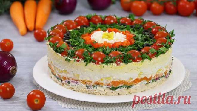 Слоёный салат на Праздничный стол