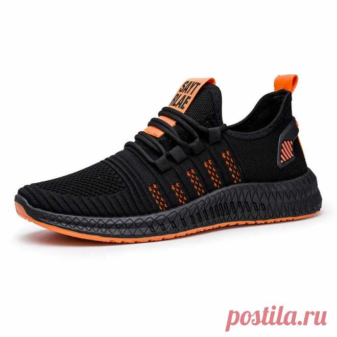 Men's running shoes mesh breathable anti-slip lightweight sneakers shockproof casual sport shoes outdoor walking jogging Sale - Banggood.com