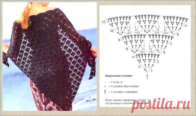 Еще 14 узоров для вязания модной шали крючком - в копилку мастерице   МНЕ ИНТЕРЕСНО   Яндекс Дзен
