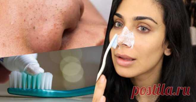 Женщина взяла зубную щетку и очищала ею нос, пока не появился этот результат - Счастливые заметки
