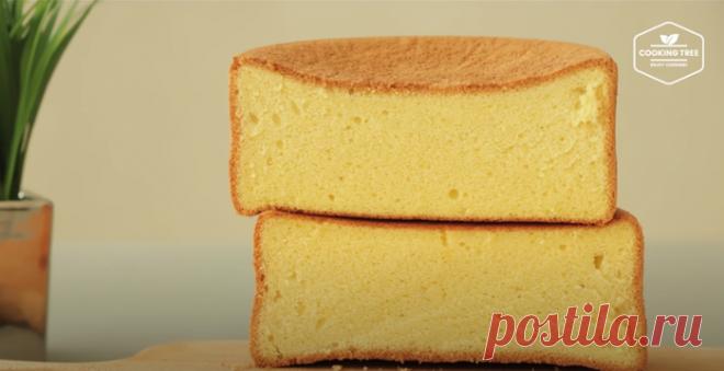 Невероятно воздушный бисквит без выпечки Кастелла