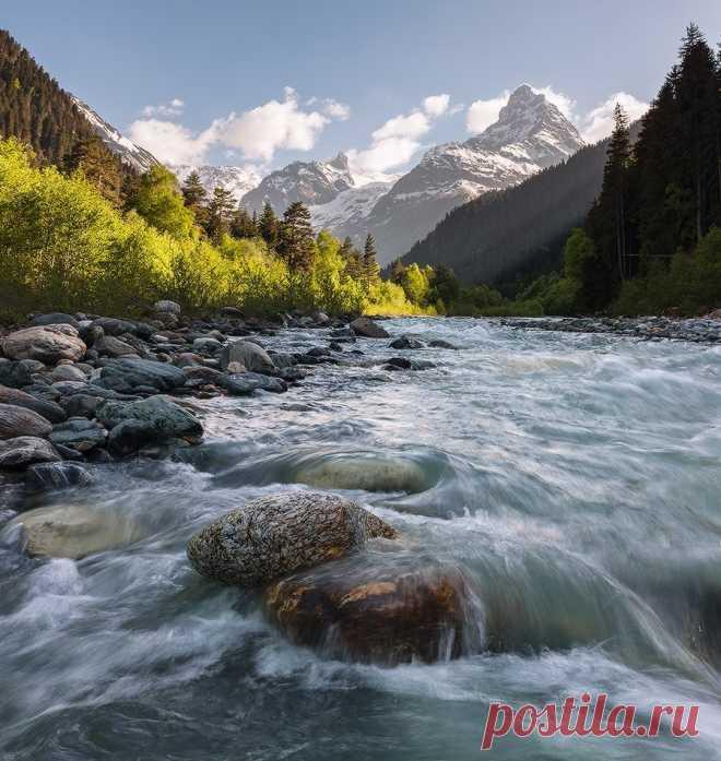 Домбай, Северный Кавказ, Карачаево-Черкесия. - Путешествуем вместе