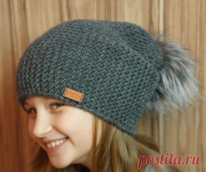 Модные шапки новые модели спицами