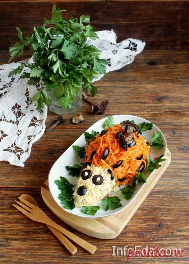 Салат «Ёжик» с морковью по-корейски: пошаговый рецепт | InfoEda.com