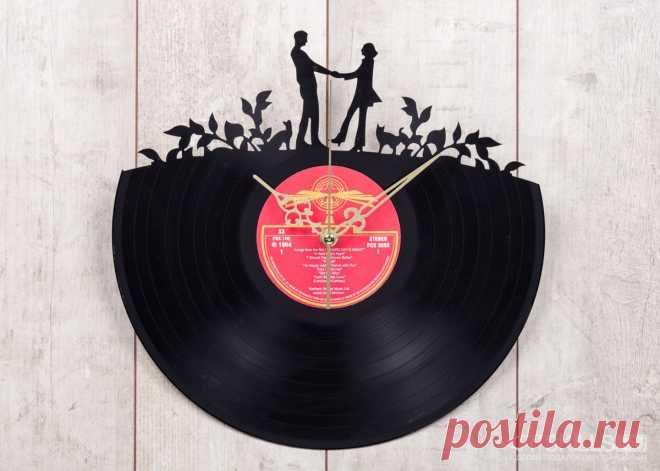 Часы из виниловой пластинки «Романтик» купить подарок в ArtSkills: фото, цена, отзывы