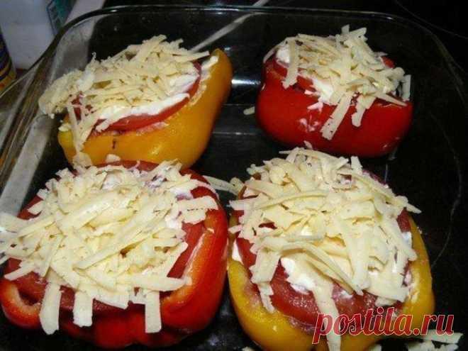 Фаршированный перец с сыром – праздничный вариант!