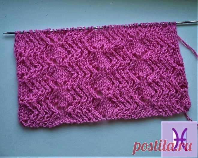 Ажурные красивые универсальные узоры для вязания спицами | Ручная работа | Яндекс Дзен