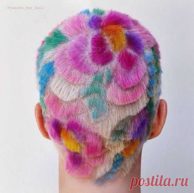 Rainbow Hair Carving (подборка)