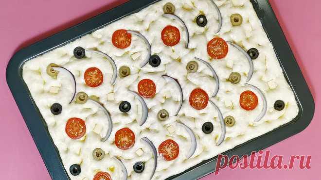 Итальянская Фокачча с начинкой вместо обычного хлеба: простой рецепт без вымешивания теста | Рекомендательная система Пульс Mail.ru
