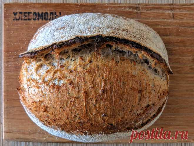 Хлеб с маком и льном на закваске