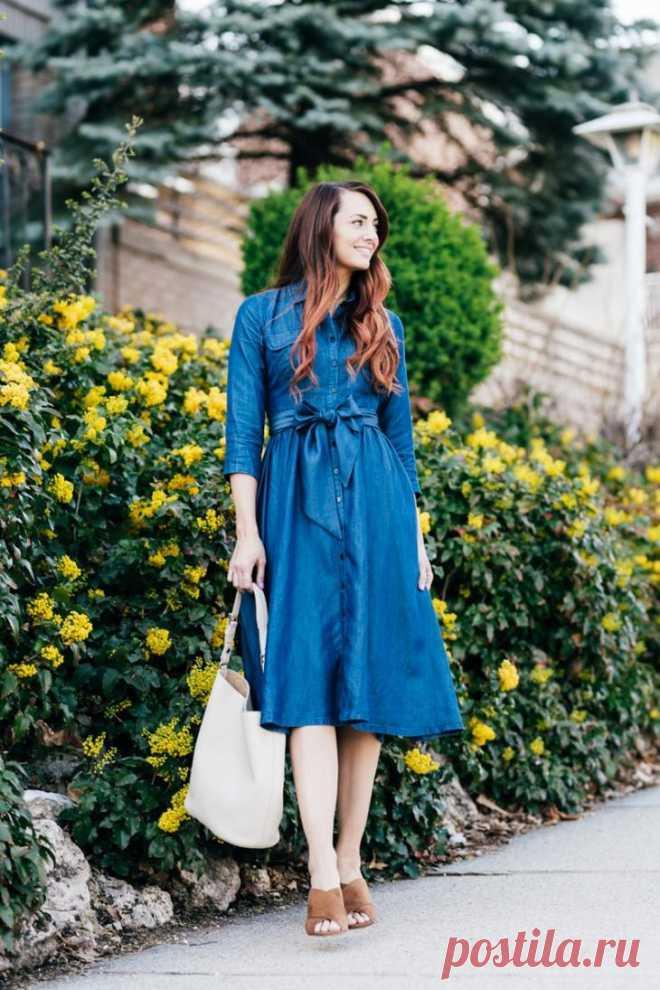 eb89cfdca05eb15 Стильные джинсовые платья этого лета Платье из денима воистину  универсальная вещь! С ним можно создать
