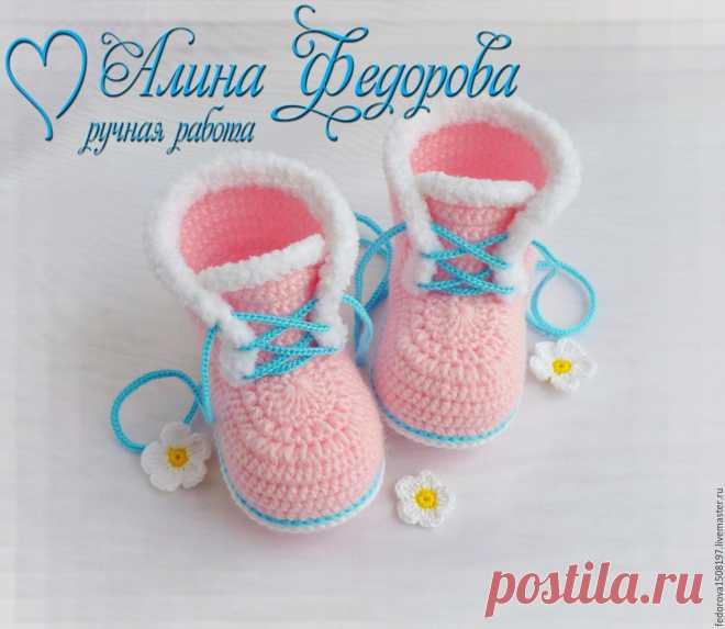 Вязание спицами пинетки для новорожденных мастер класс ...