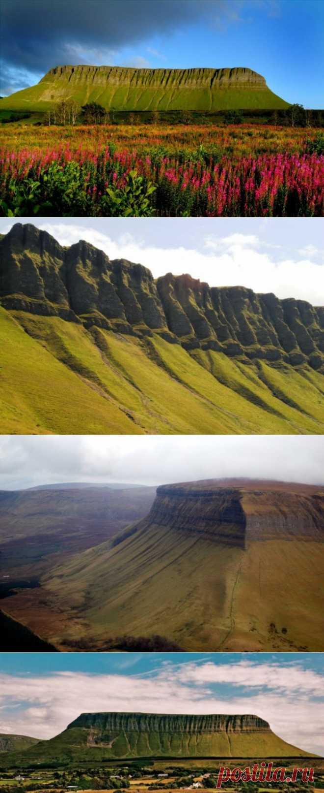 гора Бен Балбен (Ben Bulben), что переводится буквально как «челюстеобразный пик». (Ирландия, графство Слайго)