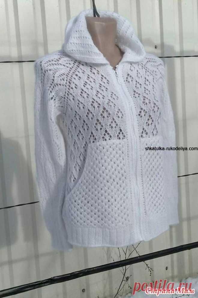 Белый кардиган с капюшоном спицами. Вяжем кардиган на лето спицами с описанием | Шкатулка рукоделия. Сайт для рукодельниц.