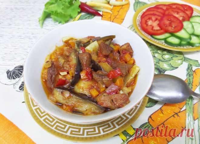 Овощное рагу со свининой в горшочках рецепт с фото пошагово