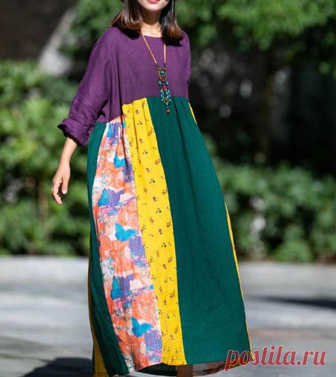 Women's longsleeves dress Loose Fitting long dresses | Etsy