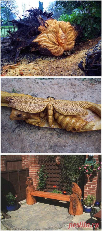 Удивительные скульптуры сделанные бензопилой | Kayrosblog.ru