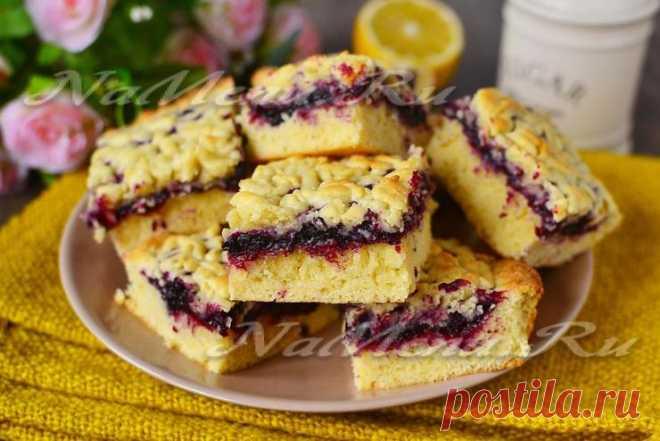 Песочное тесто, рецепт для пирога с вареньем
