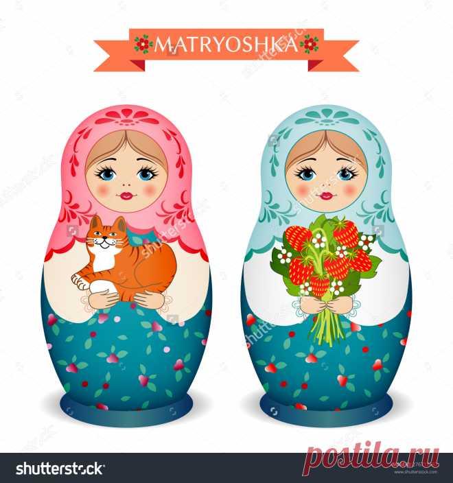 Russian Dolls - Matryoshka. Vector Illustration - 276717437: Shutterstock