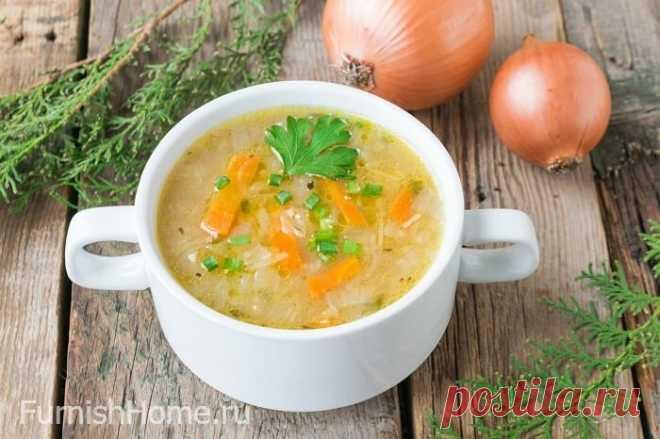 Луковый суп с капустой на курином бульоне