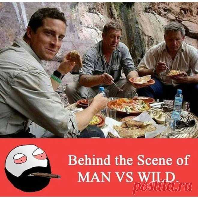 Behind the scene of Man vs Wild  #funny #memes #girls #boys #man #wild #gagbee