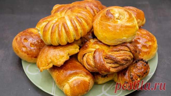 Лёгкие, воздушные и очень вкусные булочки. 10 способов формирования красивых булочек. | Евгения Полевская | Это просто | Яндекс Дзен