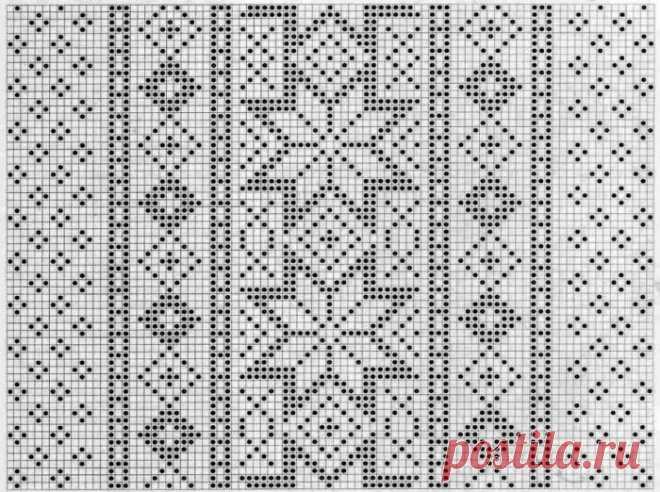 вязание спицами норвежские узоры с описанием схемы 14 тыс