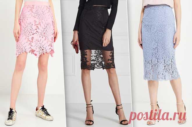 7 variantes impresionantes de las faldas de encajes — la sentencia A la moda