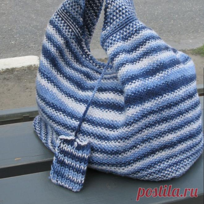 Вязание на спицах - Вяжем мужчинам - Классический шарф тканевым узором (можно и сумку связать)