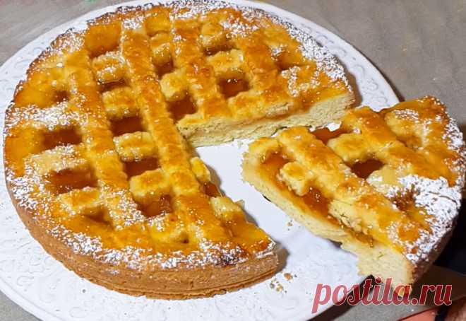 Быстрый и вкусный пирог с вареньем: Изумительное рассыпчатое тесто Песочный пирог с вареньем для занятых хозяек, у которых мало времени на...