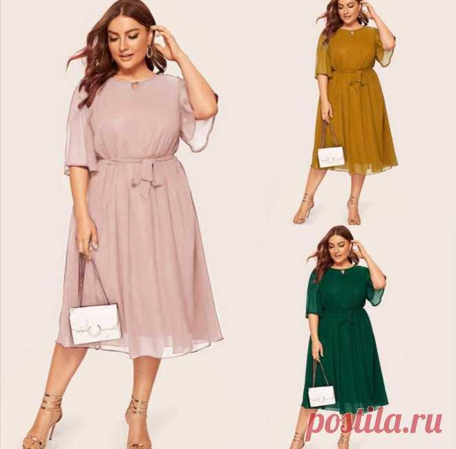 Выбираем стильные платья для полных дам и женщин с формами,чтобы выглядеть привлекательно   * Мечтательница*   Яндекс Дзен