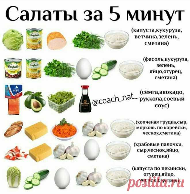 Las ensaladas en 5 minutos