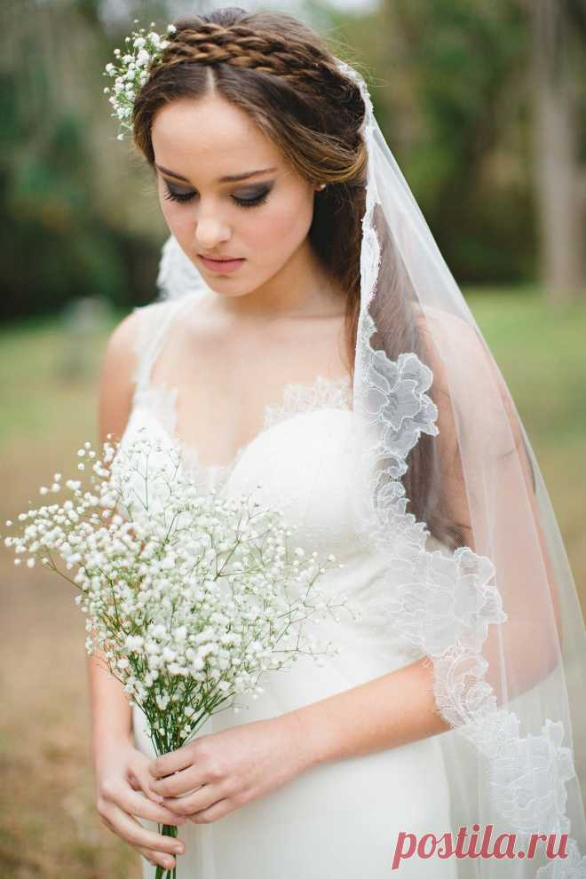 Модные свадебные прически ( 103 фото)