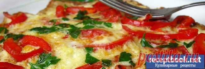 Рецепт омлета с помидорами и перцем