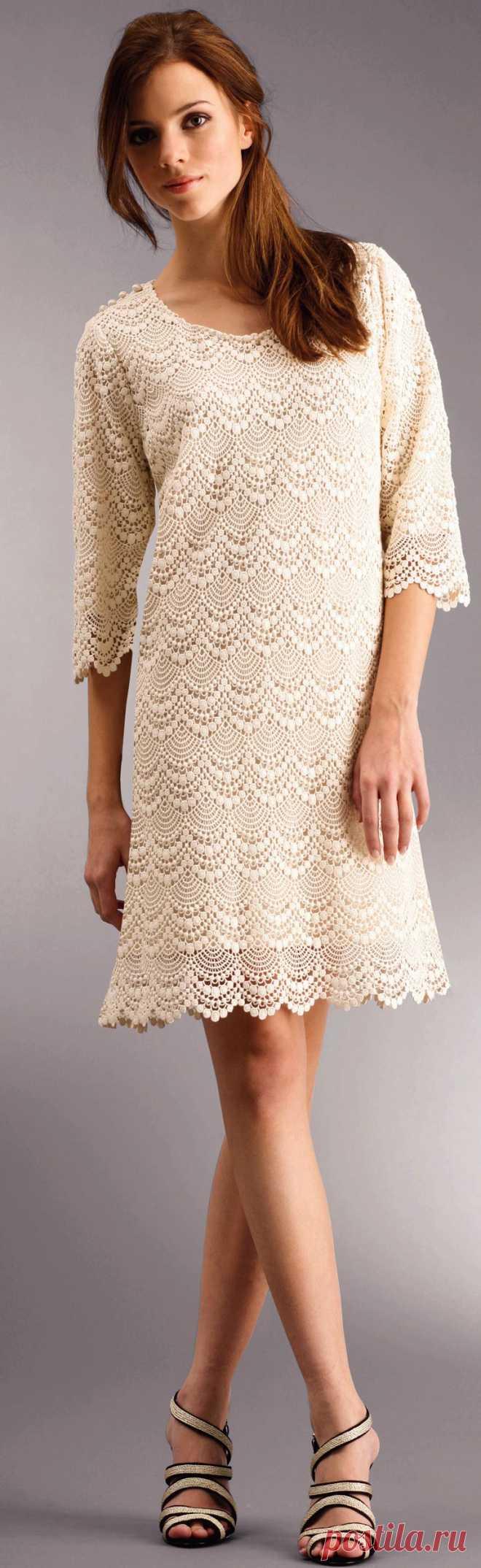красивое платье крючком.