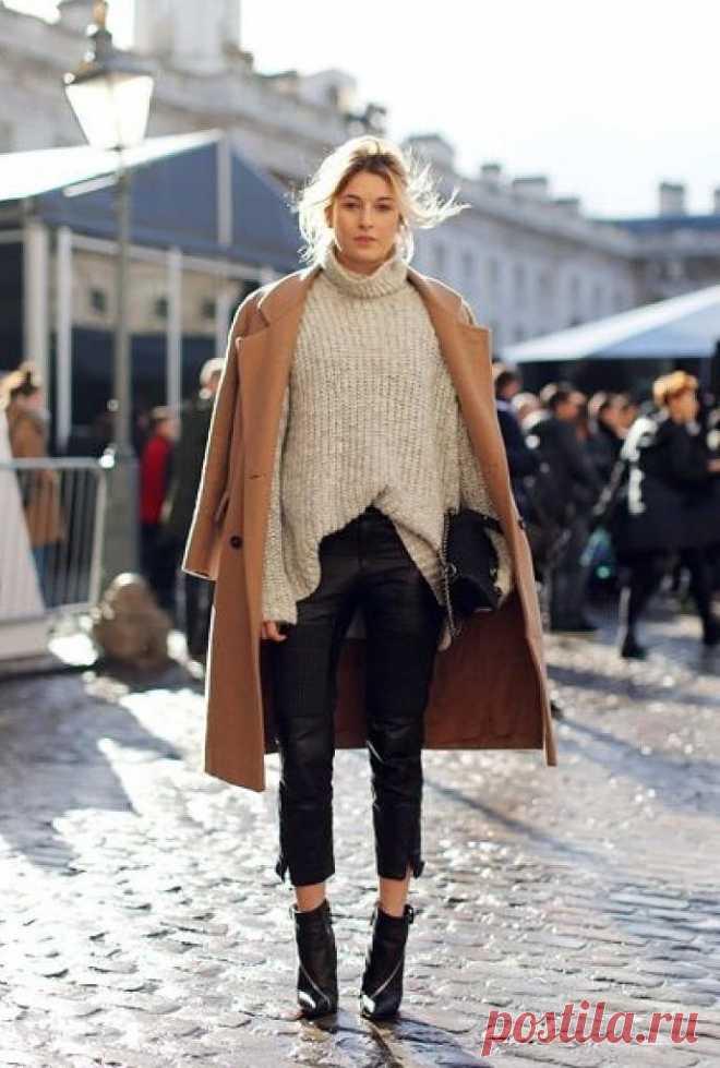 С чем носить свитер этой осенью и зимой: 14 вариантов — BurdaStyle.ru