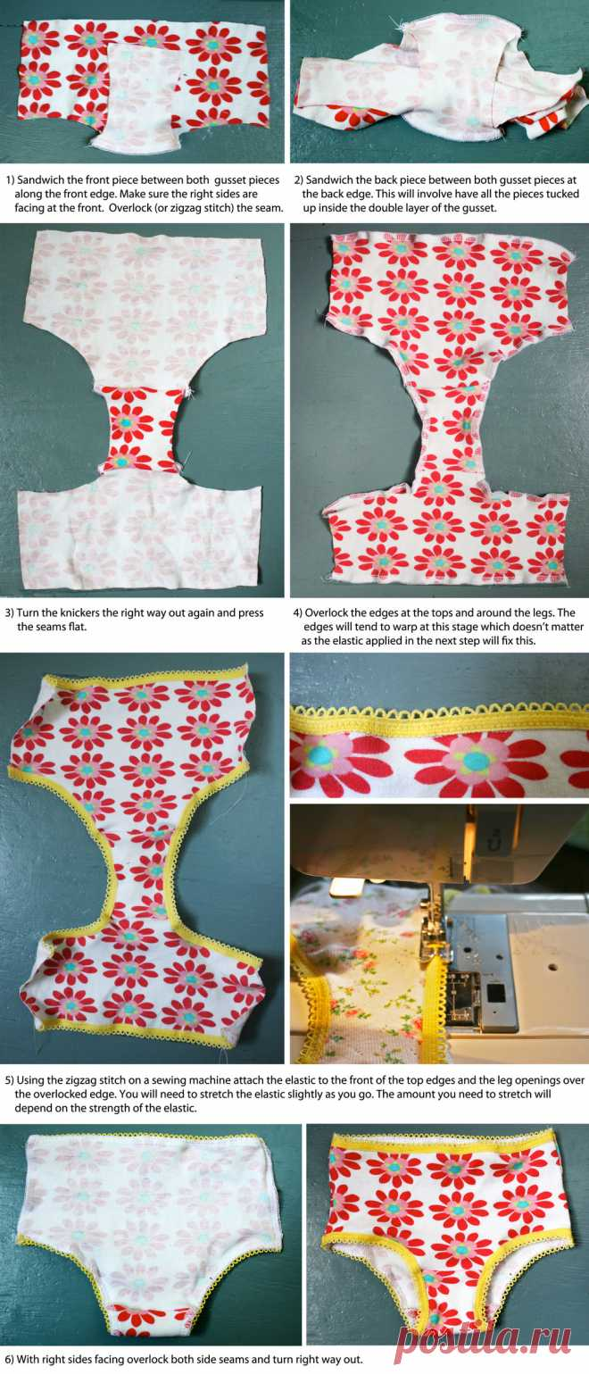 A free pattern and tutorial for making use of outgrown baby clothes and turning them into pants/knickers.