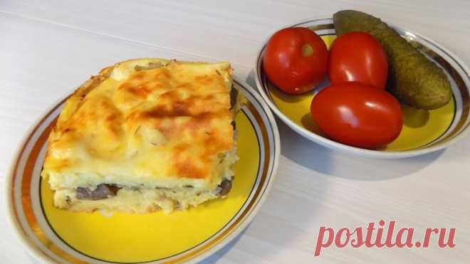 Картофельная запеканка с грибами и сыром Ингредиенты для приготовления запеканки: 1,8 кг картофеля 4 куриных яйца Немного сливочного масла 400 гр. свежих грибов (у меня шампиньоны) 1 луковица 1 плавленый сырок (70 гр.) Зелень укропа Соль по вкусу Растительное масло 1 куриное яйцо для смазывания запеканки...