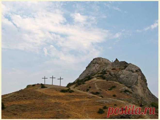 Mount Golgotha, Israel - the place where Jesus Christ was crucified. \
