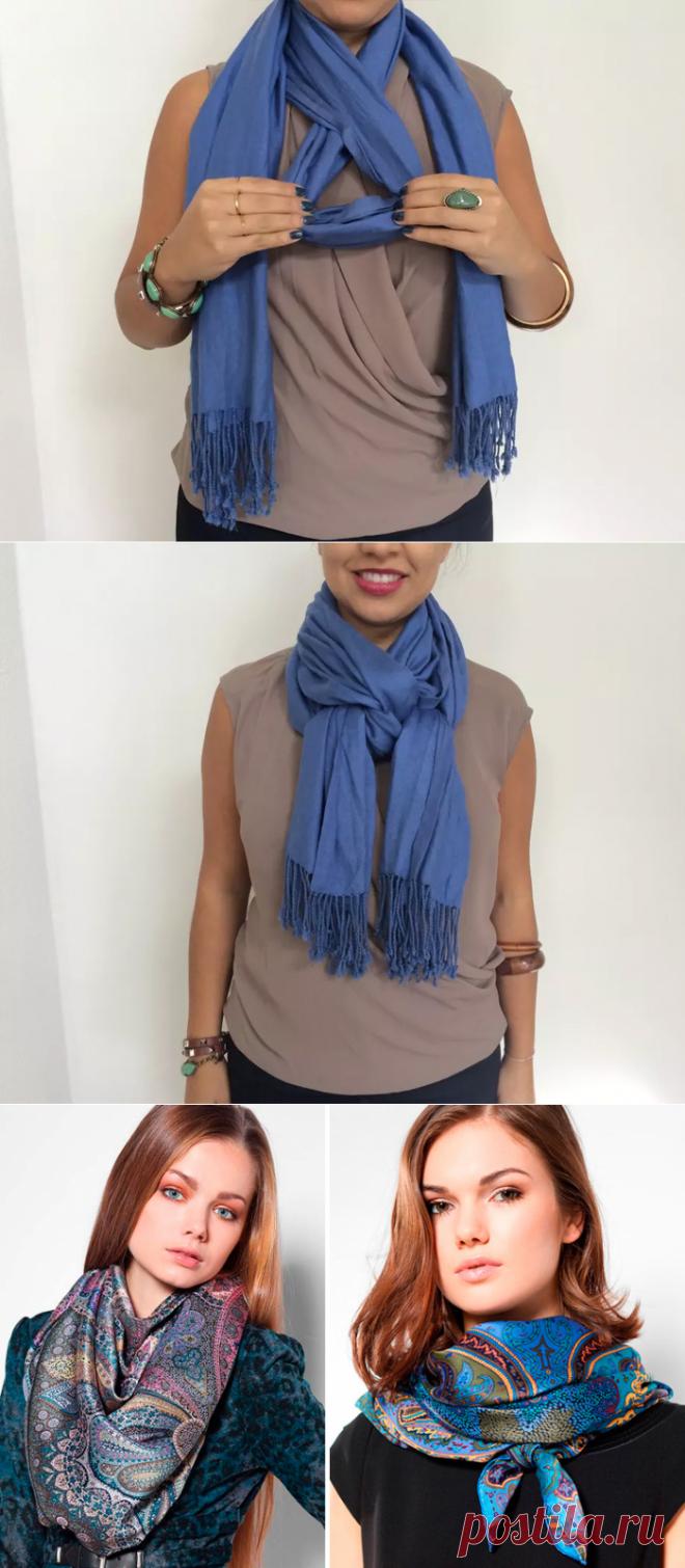 чем больше фото как красиво завязать шарф на шее данной