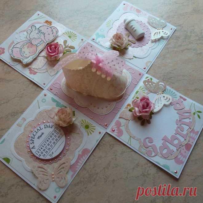 Скрапбукинг открытки коробочка