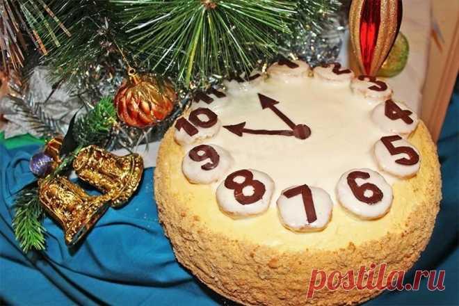 Новогодний торт Часы рецепт с фото пошагово - 1000.menu