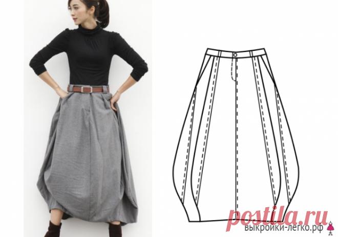 Выкройка юбки в стиле бохо | Готовые выкройки и уроки по построению на Выкройки-Легко.рф