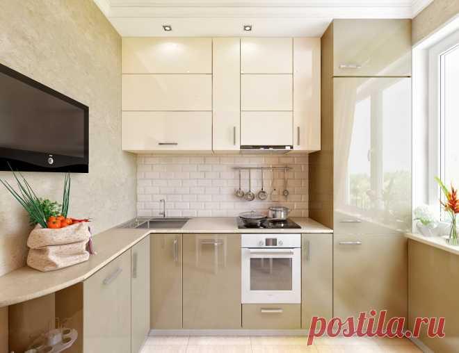кухни 6м интерьер и дизайн фото в квартире угловые 1