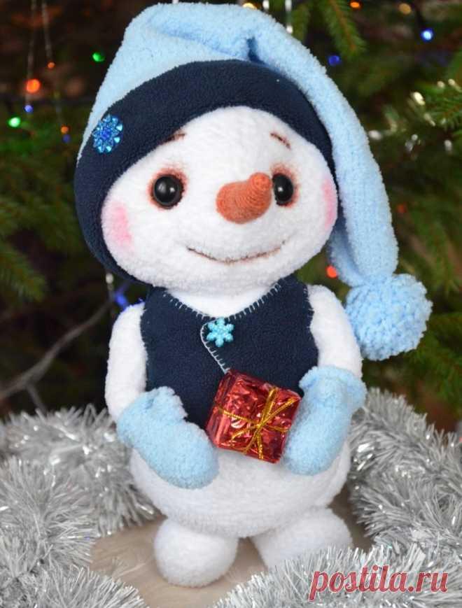 Снеговичек Куземка. Амигуруми. Вязаная игрушка. Вязаный ...
