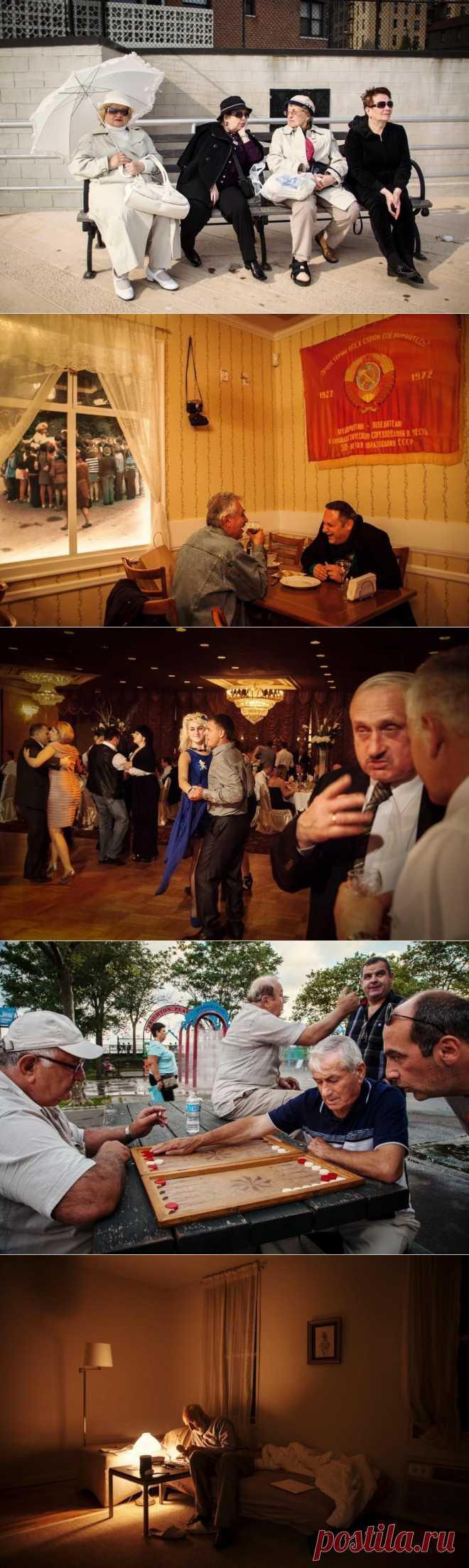 Украинский фотограф Ульяна Базар наблюдает за людьми на Брайтон-Бич, где проживает много эмигрантов из СССР.