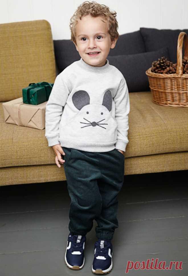 Костюм с карманом - мышью и мишкой Модная одежда и дизайн интерьера своими руками