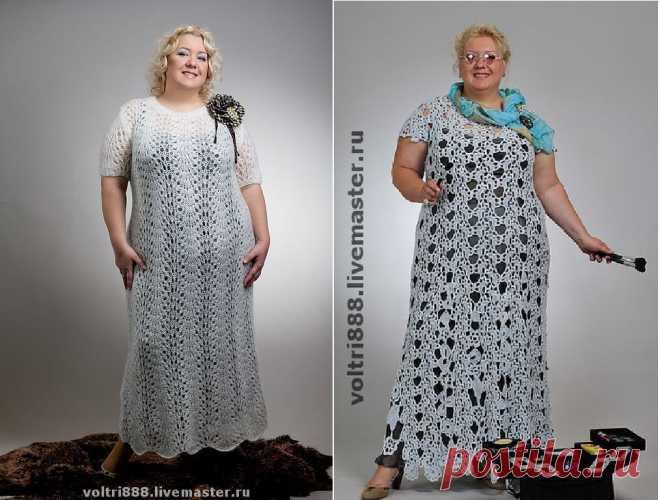 Летние вязаные платья для шикарных размеров: 6 вариантов, 3 инструкции | Записки Спицеманьяка | Яндекс Дзен